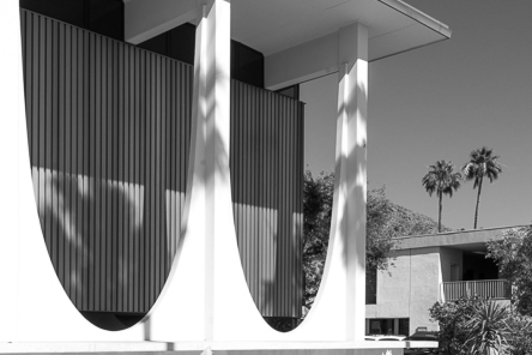 Washington Mutual bank building - downtown Palm Springs was designed by Harry Williams - architectural photography